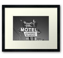 Route 66 - Desert Hills Motel Framed Print