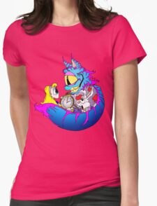 Alice & the Cheshire Cat Womens Fitted T-Shirt