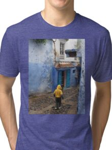 Atlas Travel Desert Caravan 6 village t shirt Tri-blend T-Shirt