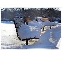 The Benches of Cantigny Poster