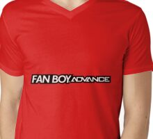 Fan Boy Advance GBA Console Mens V-Neck T-Shirt