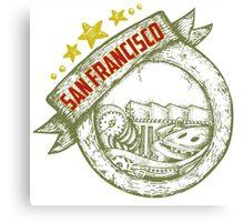 San Francisco, california badge hand draw Canvas Print