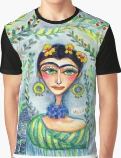 Frida in her Garden  Graphic T-Shirt