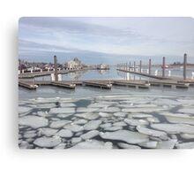 boat docks in winter Metal Print