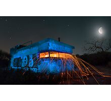 Bunker Light Painting Photographic Print