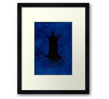 The Red Wood Rises Framed Print