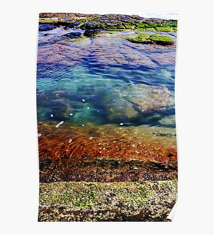Rock Pool Layers Poster