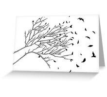 Tree Birds (Black & White) Greeting Card