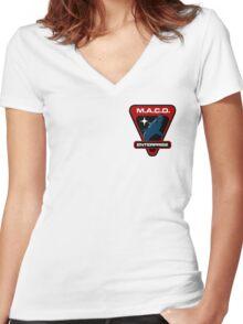 Star Trek - MACO Enterprise Women's Fitted V-Neck T-Shirt