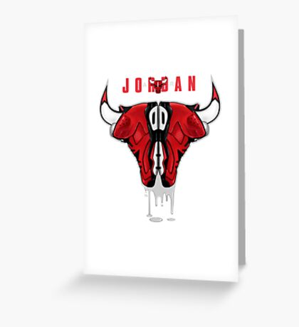"""""""RUNNING WITH THE BULLS"""" Greeting Card"""
