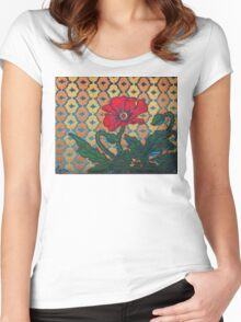 Poppy Women's Fitted Scoop T-Shirt