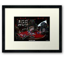 Predators Playing poker Framed Print