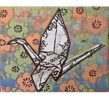 Origami Crane Photographic Print
