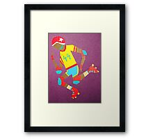 Roller Girl Framed Print