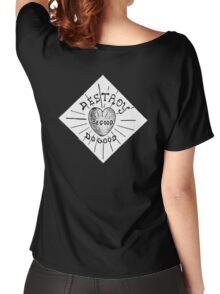 Destroy Be Good Do Good Black on White- Altered Children's Bible Art Women's Relaxed Fit T-Shirt