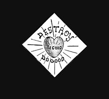 Destroy Be Good Do Good Black on White- Altered Children's Bible Art Zipped Hoodie
