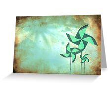 pinwheel dreams Greeting Card