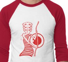 Guitar Head Banjo Player in Red T-Shirt