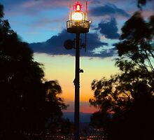 Dusk and Beacon over the National Capital by Vishal Pandey