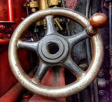 Steam Train Drivers Wheel by Stephen Smith
