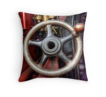 Steam Train Drivers Wheel Throw Pillow