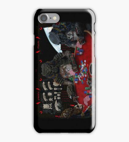 Predators Playing Poker iPhone Case/Skin