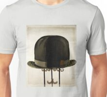 Bowler hat and Mustache Unisex T-Shirt