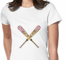 Pink Bats Womens Fitted T-Shirt