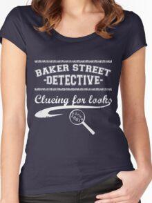 Baker Street Detective (White) Women's Fitted Scoop T-Shirt