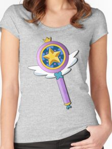 Star Butterfly's Wand Women's Fitted Scoop T-Shirt
