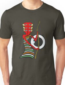 Guitar Head Banjo Player in Colors Unisex T-Shirt