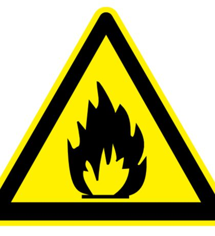 Flammable Sticker