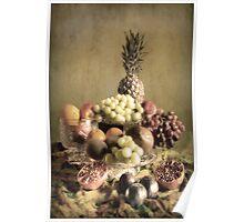 Vintage Fruit , Still life . Poster