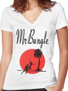 MR.BUNGLE CALIFORNIA SHIRT Women's Fitted V-Neck T-Shirt