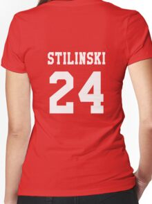 Stilinski 24, Stiles stilinski - White Women's Fitted V-Neck T-Shirt