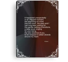 Love Poem For My Valentine Canvas Print