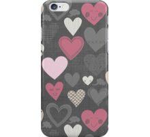 happy hearts on dark iPhone Case/Skin