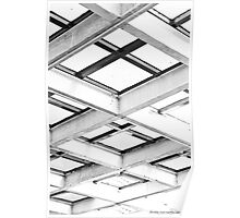 722013 - Abstract Structure Monochrome Poster