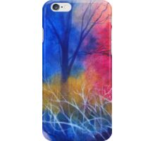 Red blue deep forest iPhone Case/Skin
