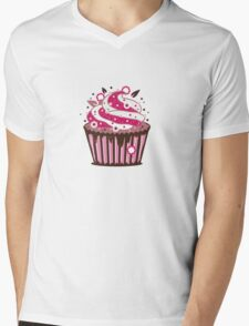 A cupcake with frosting Mens V-Neck T-Shirt