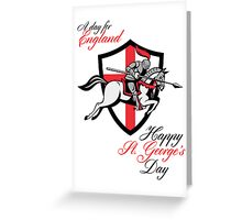 Happy St George Day A Day For England Retro Poster Greeting Card