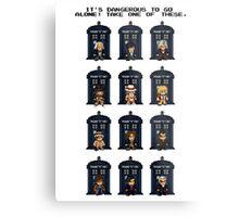 8-bit Doctor Who Metal Print
