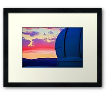 The dome in the glow Framed Print