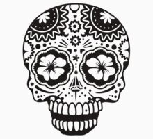 A laughing Sugar Skull  by Kisho