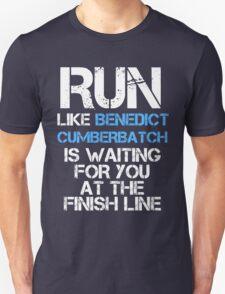 Run Like Benedict Cumberbatch is Waiting (dark shirt) Unisex T-Shirt