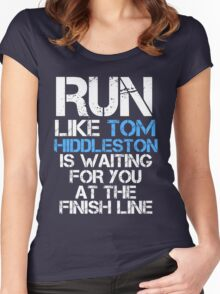 Run Like Tom Hiddleston is Waiting (dark shirt) Women's Fitted Scoop T-Shirt