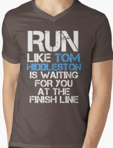 Run Like Tom Hiddleston is Waiting (dark shirt) Mens V-Neck T-Shirt