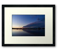 Peaceful Yachts and Sailboats Framed Print