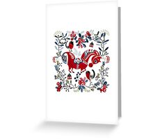 Dala horse  Greeting Card