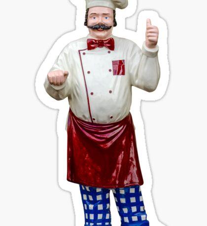 Plastic chef Sticker
